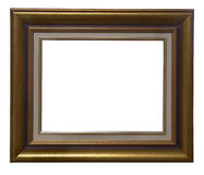 Antique wooden frame. Antique golden wooden frame isolated on white background Royalty Free Stock Image