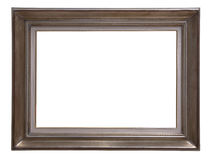 Antique wooden frame. Antique golden wooden frame isolated on white background Stock Image