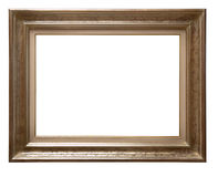 Antique wooden frame. Antique golden wooden frame isolated on white background Stock Photo