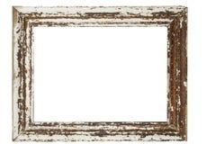 Antique wooden frame Stock Photos