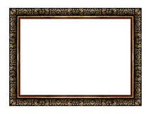 The antique wooden and gold frame Royalty Free Stock Photos