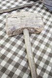 Antique wooden hammer Stock Photos