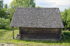 Antique wooden historical barn Stock Images