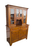 Antique wooden italian furniture just restored with dresser and Royalty Free Stock Photography