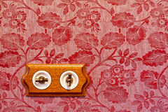 Antique Wooden Light Switch Royalty Free Stock Photography