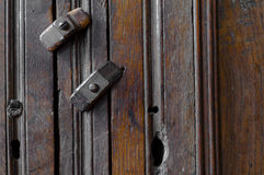 Antique wooden lock Royalty Free Stock Photography