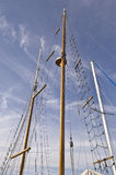 Antique Wooden Mast-Sailing Stock Photo