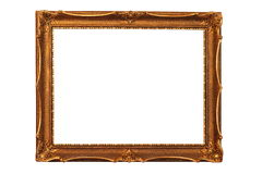 Antique wooden painting frame Royalty Free Stock Image