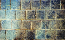 Antique wooden pavement outdoor, grunge background Stock Image