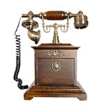 Antique Wooden Phone Royalty Free Stock Photography