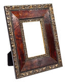 Antique wooden photo frame isolated on white background Royalty Free Stock Image