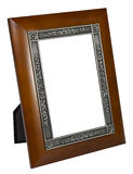 Antique wooden photo frame isolated on white background Royalty Free Stock Image