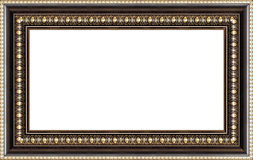 Antique wooden picture frame Stock Images