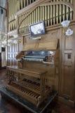 Antique wooden pipe organ Stock Photos