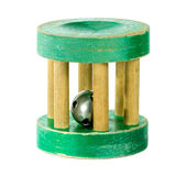 Antique wooden rattle royalty free stock images