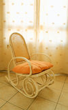 Antique wooden rocking chair Stock Photos