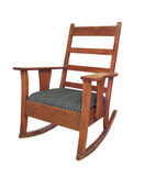 Antique wooden rocking chair isolated stock photos