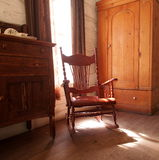 Antique Wooden Rocking Chair Stock Image