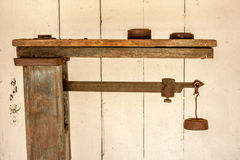 Old, Wooden Scale Stock Photography