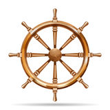 Antique wooden ship wheel Stock Image