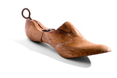 Antique wooden shoe horn Stock Photography