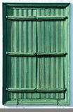 Antique wooden shutters Stock Images