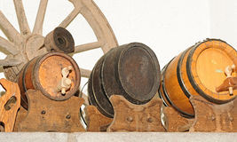 Antique wooden small draught beer keg Stock Images