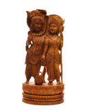 Antique wooden statue Stock Photo