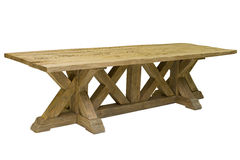 Antique wooden table isolated Royalty Free Stock Image