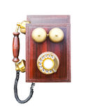 Antique wooden telephone Royalty Free Stock Images
