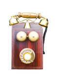 Antique wooden telephone Stock Image