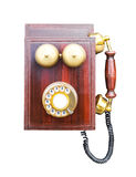 Antique wooden telephone Royalty Free Stock Photography