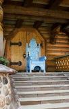 Antique wooden throne Royalty Free Stock Photos