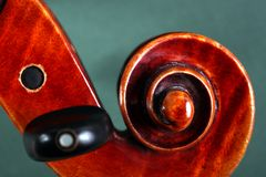 Violin scroll Stock Photos
