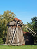 Antique wooden windmill Royalty Free Stock Images