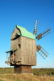 Antique wooden windmill Royalty Free Stock Photo