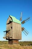 Antique wooden windmill. Antique ramshackle wooden windmill, Pirogovo, Kiev, Ukraine Royalty Free Stock Photo