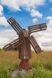 Antique wooden windmill Stock Photos