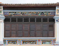 Antique wooden windows on an old building. Stock Images