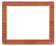 Antique woodenframe isolated on white Royalty Free Stock Image