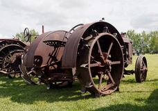 Antique Working Tractor With Lugs Royalty Free Stock Photography