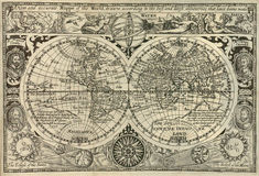 Antique world map. Antique map of the world