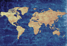 Antique world map Stock Photography