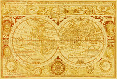 Antique world map. Antique map of the world Stock Image