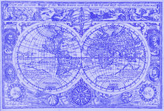 Antique world map. Antique map of the world Stock Photos