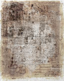 Antique, worn document. An antique, worn and barely legible document stock illustration