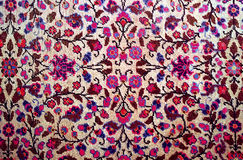 Antique worn oriental carpet Royalty Free Stock Images
