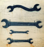 Antique Wrenches Stock Photo