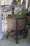 Antique Wringer Washer Planter stock photos