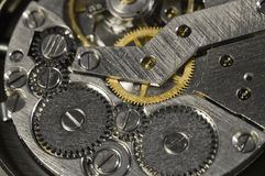 Antique wristwatch mechanics Royalty Free Stock Images